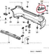 Крепление бампера. Honda Civic, LA-EU1, UA-EU1, LA-EU4, LA-EU2, LA-EU3 Двигатели: 4EE2, D17A2, K20A3, D17A5, D16V3, D16W7, D14Z5, D15Y3, D14Z6, D16V1...