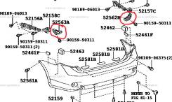 Крепление бампера. Toyota Corolla, ZRE151, ZRE152, CE140, ZZE141, NZE141, ZZE150, ADE150, NDE150, ZRE142, ZZE142 Двигатели: 1ZRFE, 3ZZFE, 1ZZFE, 2C, 1...