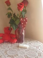 Сердечко деревянное Подарок на 8 Марта девушке