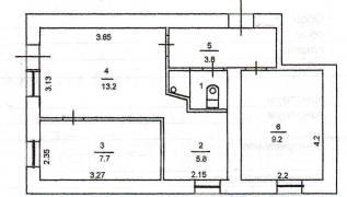 3-комнатная, Некрасова. ул. Пологая, агентство, 40 кв.м.