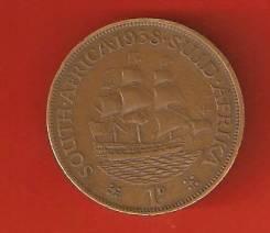 1 пенни 1938 г. ЮАР.