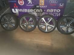 Литье Enkei Rivazza R17 c летней резиной 215/45 R17 Bridgestone. 7.0x17 5x100.00 ET50