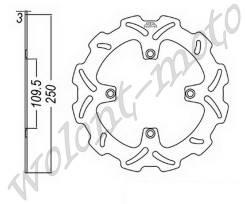 Тормозой диск JT Передний JTD2116SC01 Kawasaki KX125-06-08/KX250F