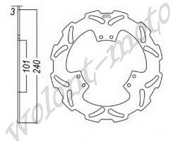 Тормозой диск JT Передний JTD1116SC01 CR125R-01/ CR125 R- 02-07