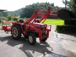 Hinomoto. E-2304 трактор с фронтальным погрузчиком и фрезой. 4вд. Под заказ