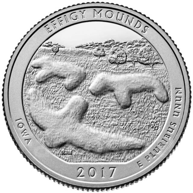 25 центов сша 2017 марки американские