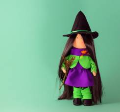 """Оригинальная интерьерная кукла """"Ведьмочка"""", ручная работа"""