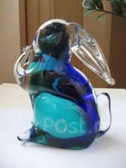 Статуэтка Кролик моющий нос муранское стекло Насон. Оригинал