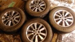 Комплект колес 16* 6 1/2 JJ 5*114,3. Литье Toyota, резина Michelin. 5x114.30 ET45