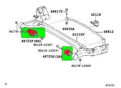 Сайлентблок подвески. Toyota: Corolla, Corolla Verso, Wish, Allion, Sienta, Corolla Fielder, Allex, Premio, WiLL VS, Corolla Runx Двигатели: 2ZRFE, 1N...