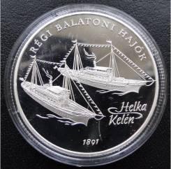 2000 форинтов.1997г. Венгрия. Корабли. Серебро. Proof.