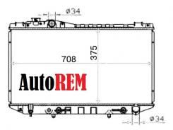 Радиатор охлаждения двигателя. Toyota Cressida, GX81, MX81, MX83 Toyota Mark II, GX81 Toyota Cresta, GX81 Toyota Chaser, GX81 Двигатели: 1GFE, 5ME, 7M...