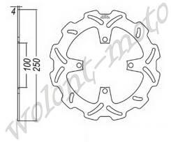 Тормозой диск JT Передний JTD2114SC01 Kawasaki KX125-03-05/KX250F-04-05