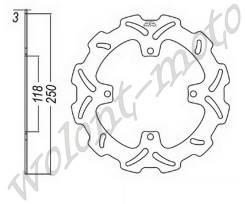 Тормозой диск JT Передний JTD3200SC01 Suzuki RM-Z250-07/RM-Z250-08-09