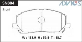 Колодка тормозная дисковая. Toyota: Highlander, Kluger V, Windom, Kluger, Harrier, Camry Двигатели: 3MZFE, 2AZFE, 1MZFE, 1AZFE