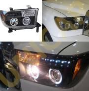 Фары Toyota Tundra c 2007- черные диодные тюнинг комплект. Toyota Tundra, UCK52, UCK51, GSK50, UCK57, UCK56, UCK55, GSK51, UCK50, USK52, USK51, USK56...