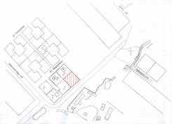 Участок 10 сот. (ИЖС). 1 000кв.м., аренда, электричество, от агентства недвижимости (посредник). План (чертёж, схема) участка