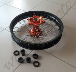 Колесо заднее 2.15*18 Черный обод/Оранжевая ступица KTM (03-12)