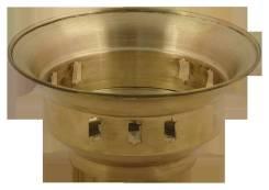 Коронка для самовара 65 мм (полированная латунь) арт.20595. Оригинал