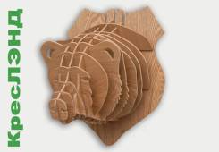 Голова Медведя Скандинавский стиль. Размер: 30,5Х36Х35 см.