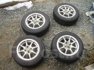 Продам комплект колес Dunlop 175/65R14 на литье. 6.0x14 4x100.00 ET45 ЦО 68,0мм.