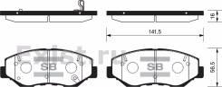Колодка тормозная дисковая. Honda CR-V, CBA-RD6, CBA-RD7 Honda CR-V I-CTDI Honda MR-V Honda Element, UA-YH2, CBA-YH2 Двигатели: N22A2, J35A9, J35A6, J...