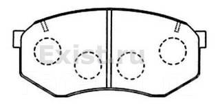 Колодка тормозная дисковая. Toyota: 4Runner, Cresta, Cressida, Crown, Comfort, Mark II, Chaser, Hilux Mazda Luce, HCSS, HC3S, HCEP, HCEJ, HCFS Двигате...