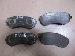 Тормозные колодки дисковые D1116M AKEBONO Япония контрактные (26198)