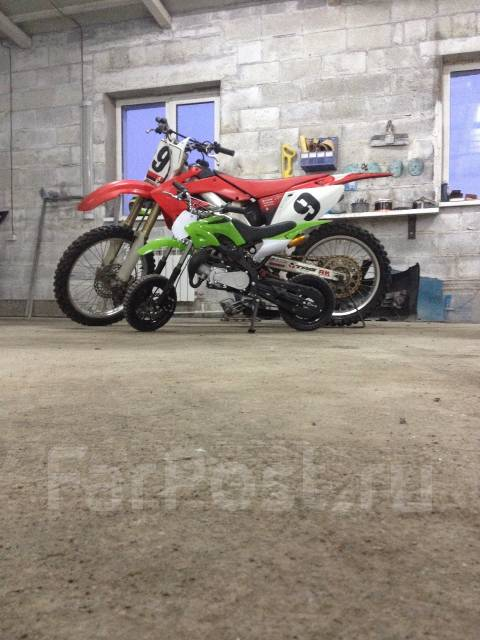 Kawasaki. 49 куб. см., исправен, без птс, без пробега