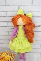 Интерьерная текстильная куколка Весна. Под заказ