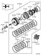 Сцепление. Mitsubishi: Delica Space Gear, Challenger, 1/2T Truck, Triton, Pajero