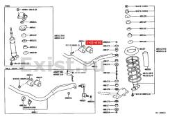 Втулка стабилизатора. Toyota Crown, GS130, GS131, LS136, MS133, MS132, MS137, LS130, MS135, LS131 Двигатели: 1GFE, 1GGE, 1GGZE, 5ME, 1GE, 5M, 2L, 2LTH...