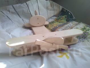 Самолёт дерево интерьерная игрушка