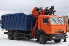 Клинцы КС-55713-1К-2. Ломовоз с КМУ АС-1К.2 (Камаз К-28 Epsilon M100Z77 SG 300), 12 000 куб. см., 15 000 кг.