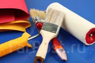 Оклейка стен обоями. Покраска. Отделочники.