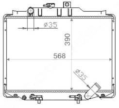 Радиатор охлаждения двигателя. Mitsubishi Delica Space Gear Mitsubishi L300