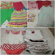 Одежда основная: платья , леггинцы, футболки для девочки. Рост: 60-68, 68-74 см