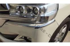 Накладка на бампер. Toyota Land Cruiser, UZJ200W, J200, GRJ200, URJ200, URJ202, UZJ200, VDJ200, URJ202W Двигатели: 1VDFTV, 1URFE, 3URFE, 1GRFE, 2UZFE