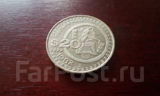 Мексика. Огромные 20 песо 1982 года в сохране!