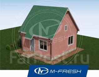 M-fresh Main room (Проект маленького дома для яркой жизни на природе! ). до 100 кв. м., 1 этаж, 1 комната, каркас