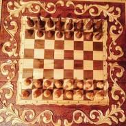 Шахматы-нарды резные большие