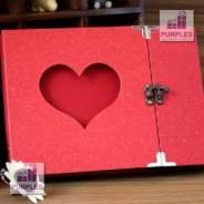 """Фотоальбом творческий """"Сердце"""", красный"""
