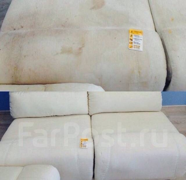 Химчистка мягкой мебели. матраса, ковра дивана. Безопасно для здоровья