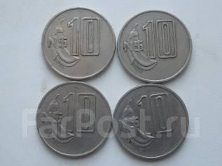Уругвай 10 новых песо 1981 г. Оптовый лот 4 штук.