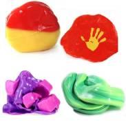 Умный пластилин (жвачка для рук) - меняет цвет 70 гр (4 цвета)