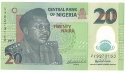 Банкнота 20 Naira Нигерия 2007 год