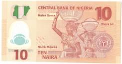 Банкнота 10 Naira Нигерия 2011 год