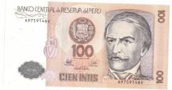 Банкнота 100 Intis PERU ПЕРУ