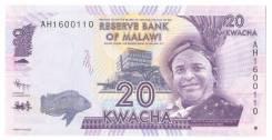Банкнота 20 Kwacha Malawi 2012 год