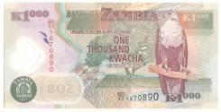 Банкнота 1000 Kwacha Zambia